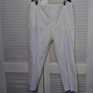 Perry Ellis Portfolio Travel Lux White Linen Pants